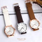 手錶 STACCATO數字皮革腕錶 柒彩年代【NEK14】正韓空運