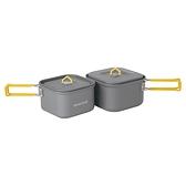 [好也戶外]mont-bell SQUARE COOKER SET 12+13方型鍋具組 NO.1124599