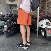運動短褲女港風中褲原宿休閒褲子百搭五分褲【聚物優品】