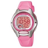CASIO 純真時代十年電池電子錶-粉(LW-200-4B)
