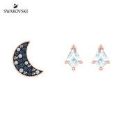 施華洛世奇 Symbol 玫金色旋月星芒穿孔耳環