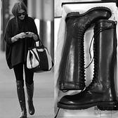 高筒馬丁靴女秋冬英倫長筒長靴騎士靴不過膝靴子【時尚大衣櫥】
