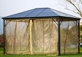 遮陽傘 涼亭庭院別墅室外防雨遮陽陽光棚大型鋁合金戶外花園帳篷 莎拉嘿呦