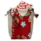 日式風格旅行獨享組布包-吉祥紅 茶具收納...