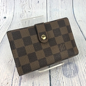BRAND楓月 LOUIS VUITTON 路易威登 LV N61664 經典棋盤格 附口金包中夾 錢包 錢袋