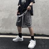 夏季嘻哈復古小熊字母印花百搭休閒褲短褲男女 中性【小酒窩】