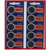 SONY 鈕扣型電池 CR2016-2卡 10入裝