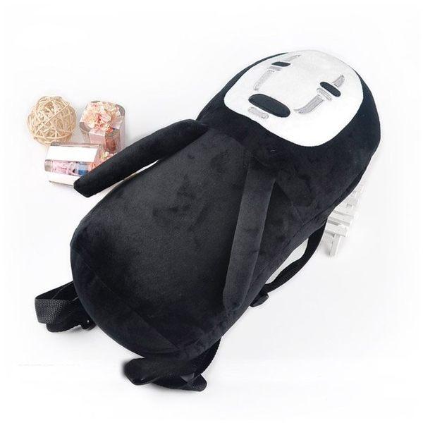 【發現。好貨】宮崎駿無臉男毛絨後背包日本動漫千與千尋無臉男圓筒包娃娃後背包