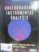 【書寶二手書T9/大學理工醫_ZKA】Undergraduate Instrumental Analysis_Robin