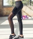 依芝鎂-B415運動褲側口袋網紗長褲路跑健身褲子正品,單褲售價499元