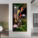 入戶玄關裝飾畫現代簡約走廊過道牆畫壁畫玄幻輕奢掛畫九魚麋鹿畫 NMS 樂活生活館