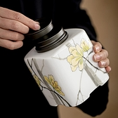茶葉罐密封罐陶瓷雙層密封茶葉儲存罐子手工防潮醒茶倉【匯美優品】