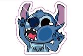藍怪物 毛怪 史迪奇 撞玻璃 超KUSO 搞笑貼 爆炸貼 裝飾貼 大張規格 安全帽貼 車身貼
