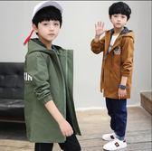 男童風衣 男孩外套 秋裝 2018新款 兒童運動外套 韓版中長款外衣 春秋男孩罩衫 拉鏈衫 休閒上衣