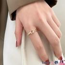 戒指 女士時尚個性指環戒指女潮輕奢小眾設計精致網紅開口食指戒 coco