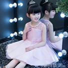兒童裙夏裝公主裙女童洋裝蓬蓬紗花童禮服女孩生日白色婚紗裙子 鹿角巷
