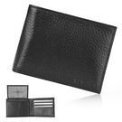 Calvin Klein荔枝紋皮革可拆式證件RFID防盜短夾禮盒(黑色)103018