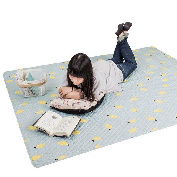 防滑地墊 爬行墊 保潔床墊 親膚可機洗萬用墊-150X190cm 旺寶  絎縫墊【E043】