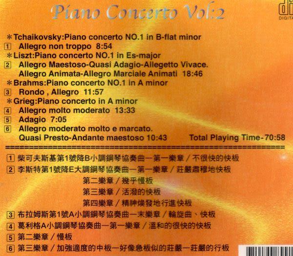 世界名曲 鋼琴協奏曲 第二輯 CD (音樂影片購)