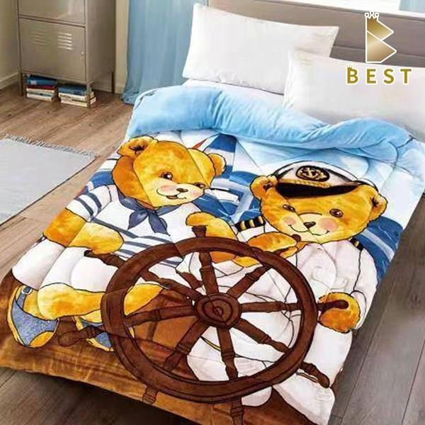 【Best寢飾】雙面激厚法蘭絨暖暖被 水手小熊 泰迪熊 毛毯 毯被 毯子 被子 棉被
