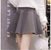 秋冬2021年新款女大擺A字裙毛呢半身裙韓版彈力高腰短裙裙褲傘裙 8號店