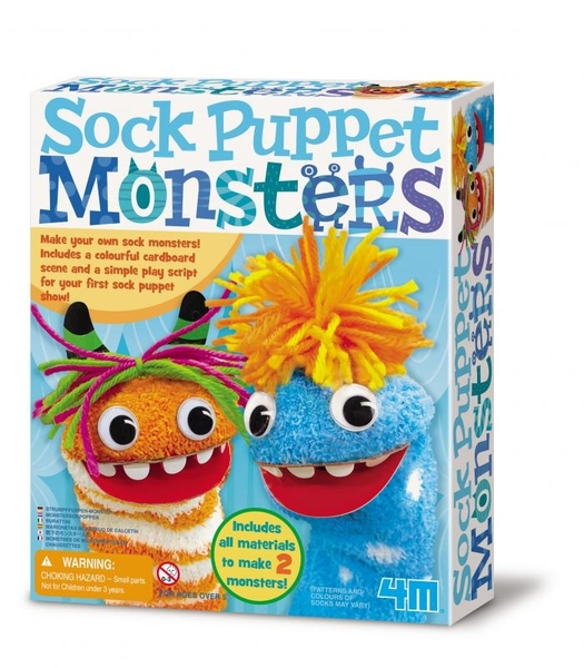 【4M】04619 美勞創意-襪子怪獸劇場 Sock Puppet Monsters