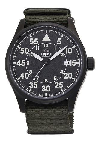 【時間光廊】ORIENT 東方錶 軍綠色 飛行錶 機械錶 公司貨 錶徑42.4公分 RA-AC0H02N