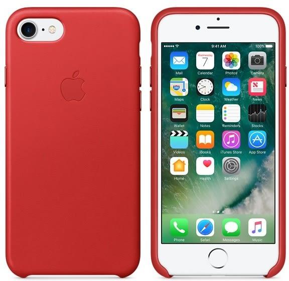 APPLE iPhone 7 PLUS 原廠皮革護套 5.5吋 手機套 紅色 iphone7plus手機殼