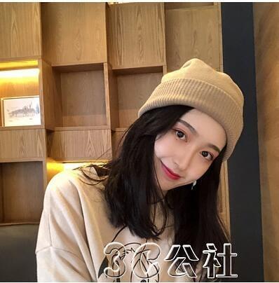 針織帽子 帽子女天毛線帽潮韓國棉帽百搭冷帽韓版日系月子針織帽 快速出貨