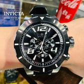 【INVICTA】S1極限競速賽車款 三眼計時腕錶 -黑白矽膠錶帶