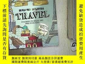 二手書博民逛書店Travel罕見INSPIRED COLORING 旅遊色彩設計Y261116