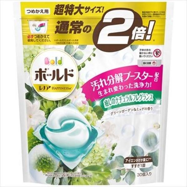 【日本製】【P&G】Bold 2倍超大容量洗衣凝膠球3D立體 膠囊 洗衣精 補充包 30顆入 微風森林香(一組