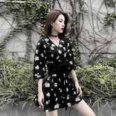 溫柔風碎花連身裙2020新款夏收腰日系少女穿搭和服約會小裙子潮 【ifashion·全店免運】