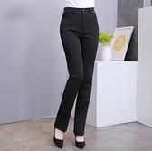 女西褲 職業西裝褲面試工作正裝褲 直筒 修身口袋長褲子 黑色