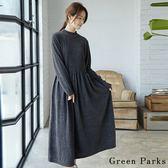 ❖ Winter ❖ 優雅打褶裙擺連身裙 - Green Parks