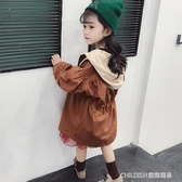 風衣外套 女童風衣新款中長款韓版秋季兒童上衣洋氣女寶寶外套秋裝 童趣潮品