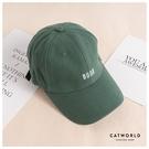 Catworld BOOK英文字刺繡棒球帽【18003752】‧F