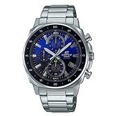 CASIO EDIFICE 三眼跳色漸層計時錶(EFV-600D-2A)-黑藍x51mm