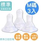 三入組台灣製 標準口徑雙透氣孔 防脹氣奶嘴(彈性佳,透氣性佳)【EA0023】