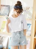 蜜柚白色t恤女短袖2020年新款夏季韓版ins洋氣純棉寬松半截袖上衣