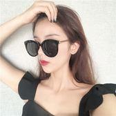 墨鏡女新款網紅明星圓臉大臉顯瘦個性復古簡約太陽眼鏡街拍潮