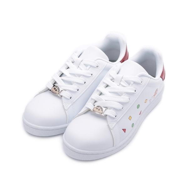 蠟筆小新 釦飾休閒板鞋 白 SC7826 女鞋