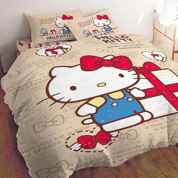 床包 / 雙人加大【KT 蝴蝶結大版】含兩件枕套  混紡精梳棉  戀家小舖台灣製ABE301