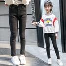 童裝女童牛仔褲秋冬新品兒童加絨加厚長褲中大童彈力小腳褲子