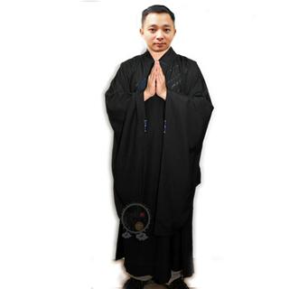 海青(黑色)附海青袋46號 身高147-148公分 【十方佛教文物】