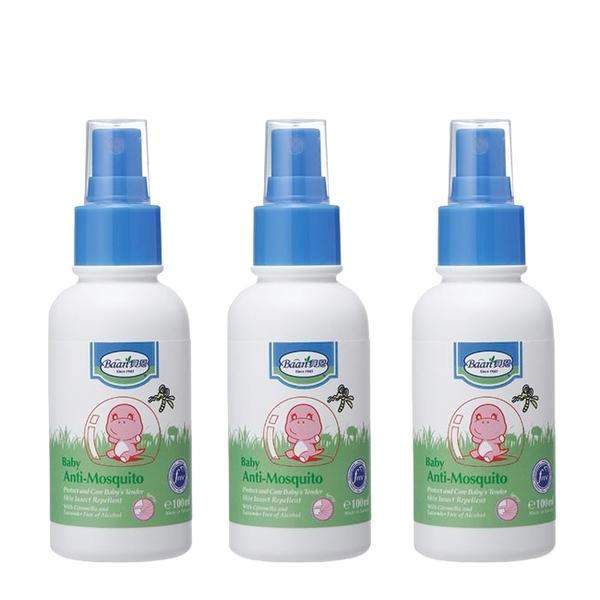 【限量特賣】Baan貝恩 - 嬰兒防蚊噴液 100ml/3瓶 (可混搭)