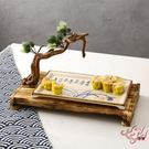 特色餐盤創意根雕明檔冷菜大盤實木意境菜酒店中式特色異形裝飾火鍋店餐具