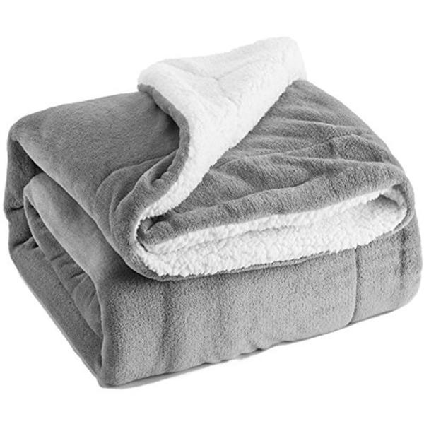 【快出】羊羔絨毯子加厚雙層法蘭絨毛毯