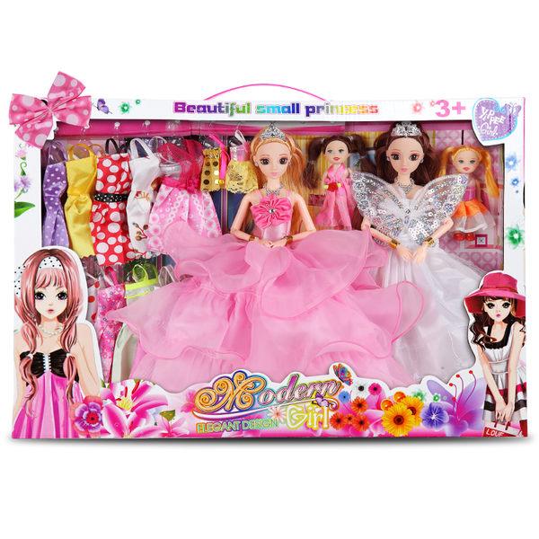 全館免運八折促銷-會說話的換裝芭芘洋娃娃套裝大禮盒女孩公主兒童玩具別墅城堡衣服