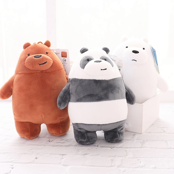 【We bare bears站姿娃娃 6吋】Norns CN正版 熊熊遇見你 絨毛玩偶 附吊繩吊飾 卡通玩具 阿極 大大 胖達